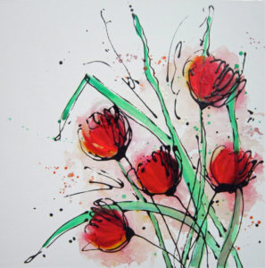 Tulip Splash, Artwork Alce Harfield