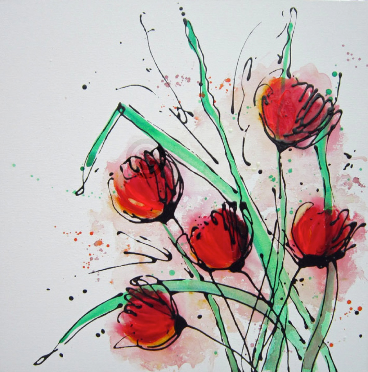 Tulip Splash, Artwork Alce Harfield