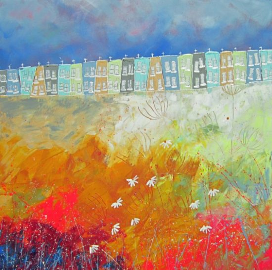 Alce Harfield painting c2003 Build a dream