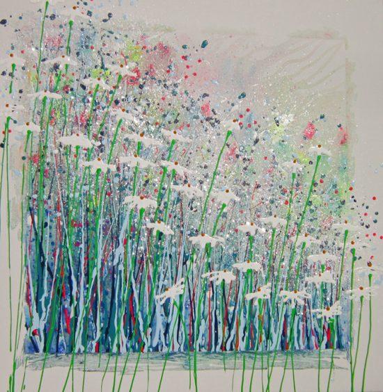 Alce Harfield painting c2008 - Daisy Disco