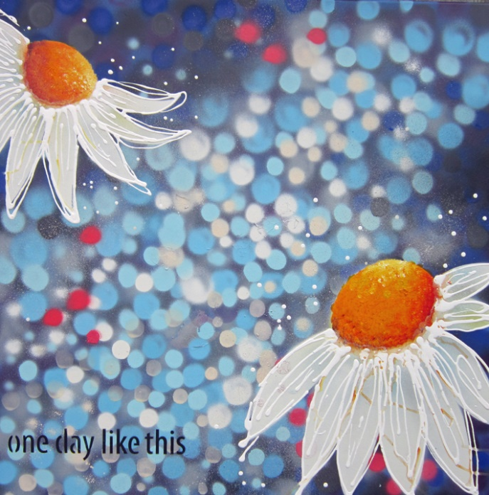 Alce Harfield painting c2014 - One day like this (spray and acrylic)