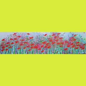 c2023 - Wild poppy rhythms Painting by Alce Harfield