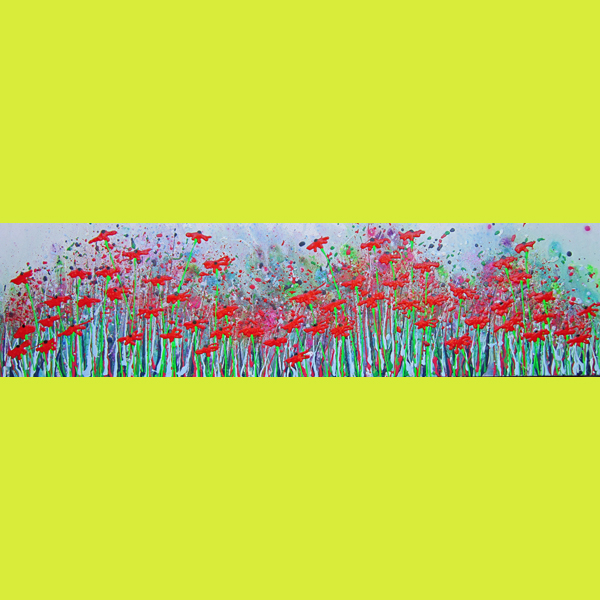c2023 - Wild poppy rhythms Painting by Alce Harfield