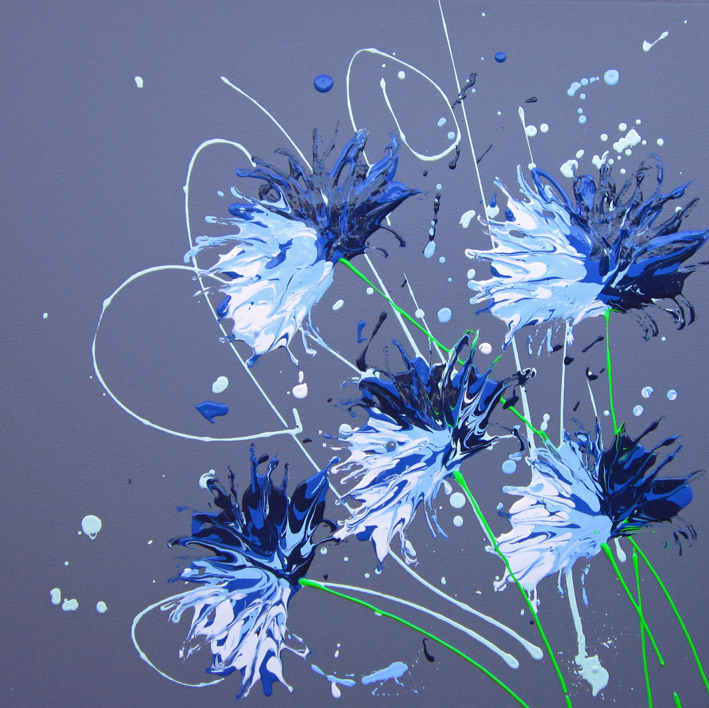 Cornflower Splash by Alce Harfield