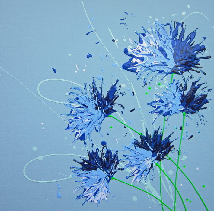 Cornflower Blue painting by Alce Harfield