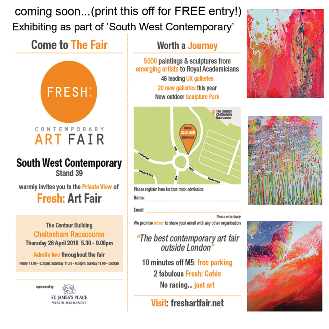 Fresh Art Fair, Cheltenham Racecourse, 26th April 2018