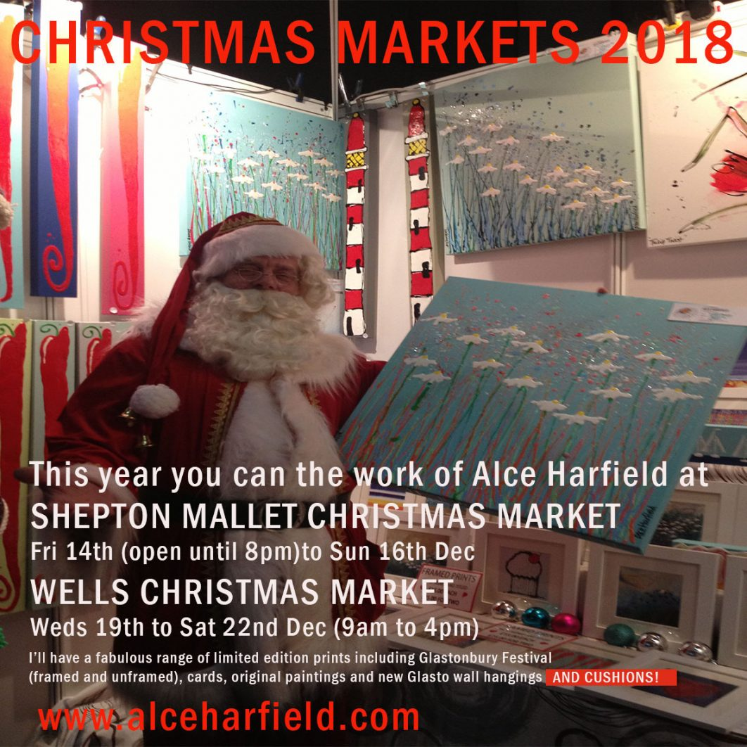 Artist, contemporary art to buy. Xmas Poster for Shepton Mallet Christmas Market
