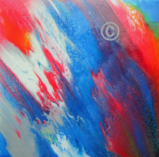 2212 Creation acrylic on board with resin coating