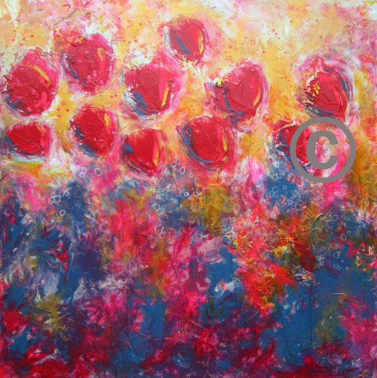 2284 Ruby Red 30x30""