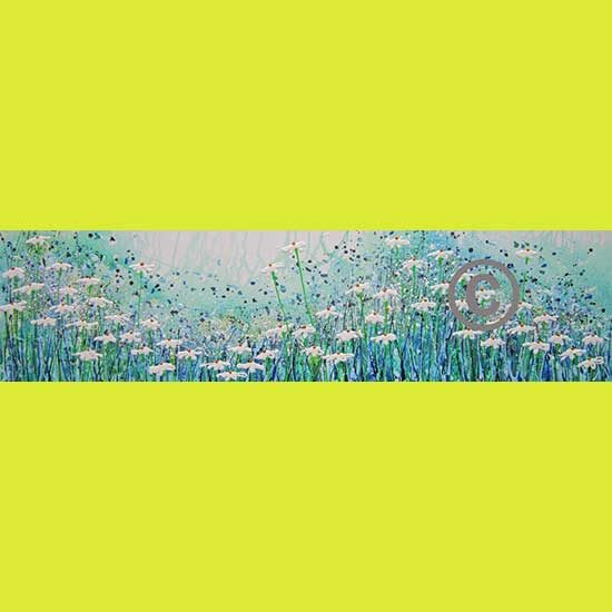 """2290 Wild Thing (with glitter, bee and tiny sparkles) 16x60"""""""