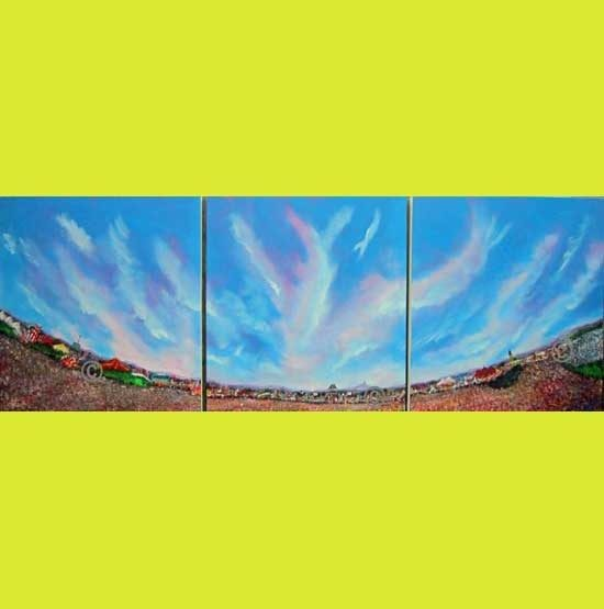 2300 'Come on…..feel….the noise' Triptych of three