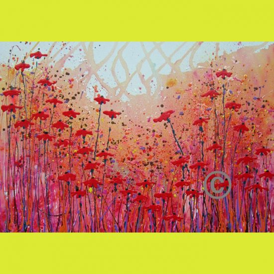 2321 Poppy Sparkle (with glitter and ladybird)