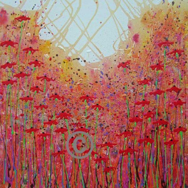 2315 Poppy Stars (with glitter and ladybird)