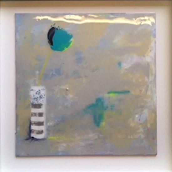 2348 Calm (coated in resin, framed in white) 50x50cm