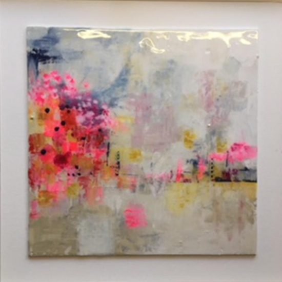 C2344 Serendipity (coated in resin, framed in white) 50x50cm