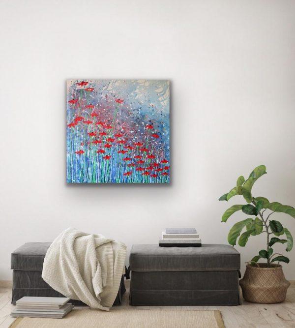 Poppy Splash in a room